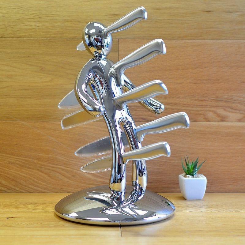 ナイフスタンドセット 包丁 5本セット クロム(艶あり)Raffaele Iannello 5-Piece Knife Set with Limited Edition Chrome Holder EX5-CHROMEWB