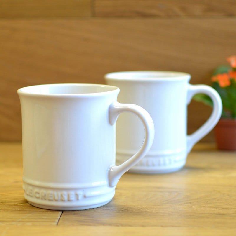 ル・クルーゼ マグカップ 355ml ホワイト 2個セット Le Creuset Stoneware 12-Ounce Mug White ルクルゼ ルクルーゼ コップ カップ