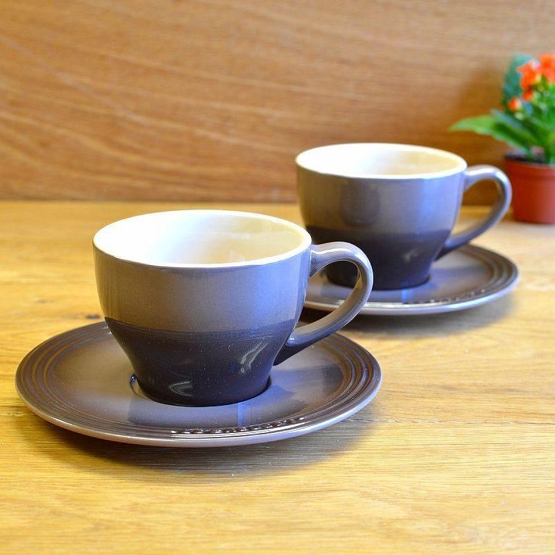 ル・クルーゼ カプチーノ カップ&ソーサー 2客セット トリュフブラウン 200mlLe Creuset Set of 2 Cappuccino Cups and Saucers Truffle ルクルゼ ルクルーゼ コップ カップ