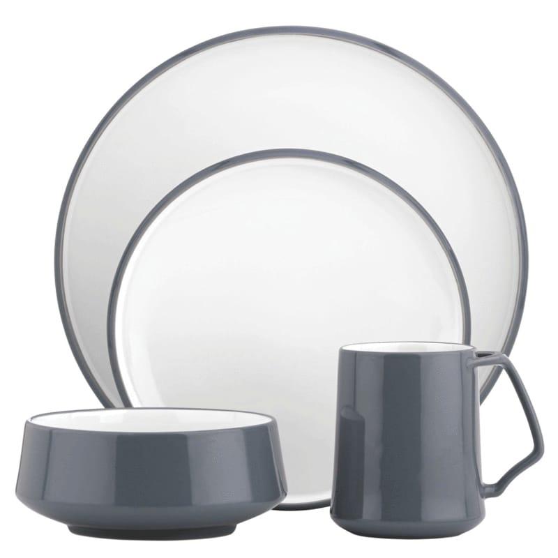 ダンスク コベンスタイル食器セット 4ピース グレー DANSK Kobenstyle 4-Piece Place Setting, Slate
