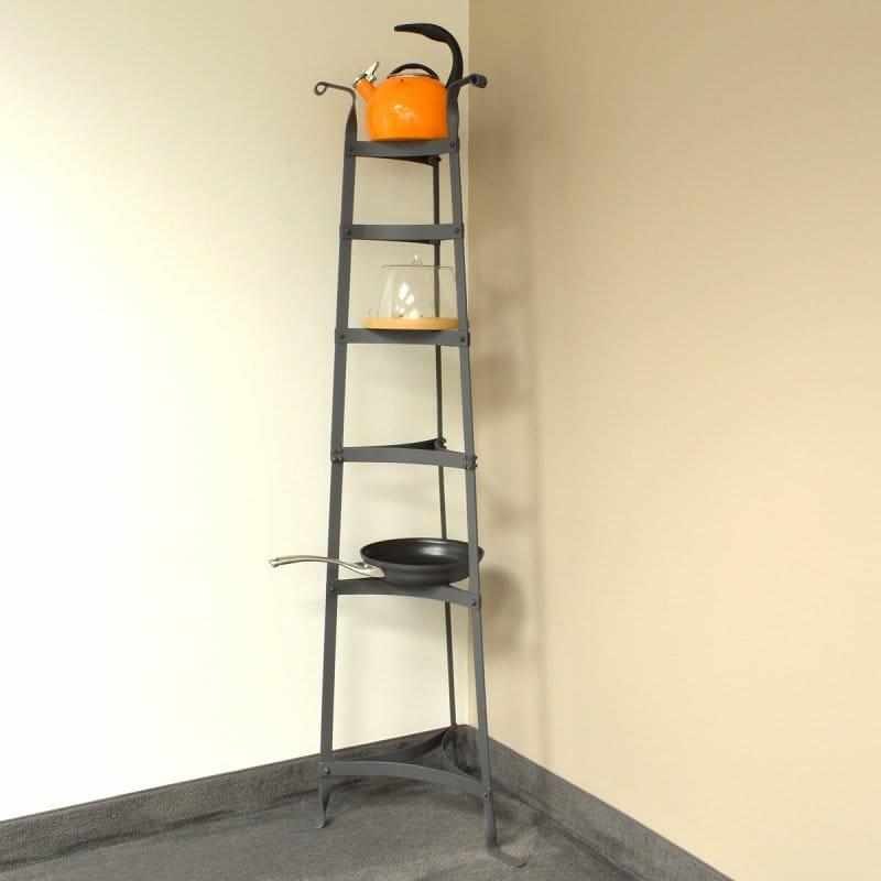 【組立要】クックウェアスタンド 鍋置き棚 6段 高さ152cmOld Dutch 60