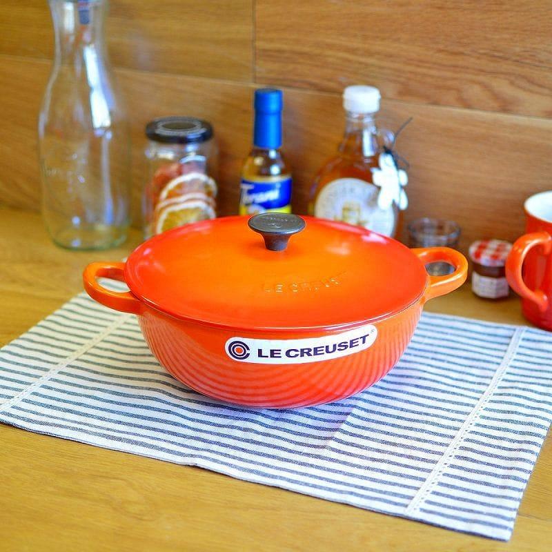 ルクルゼ Le Creuset Soup Pots Marmot Orange Diameter 22 Cm 2 6 L