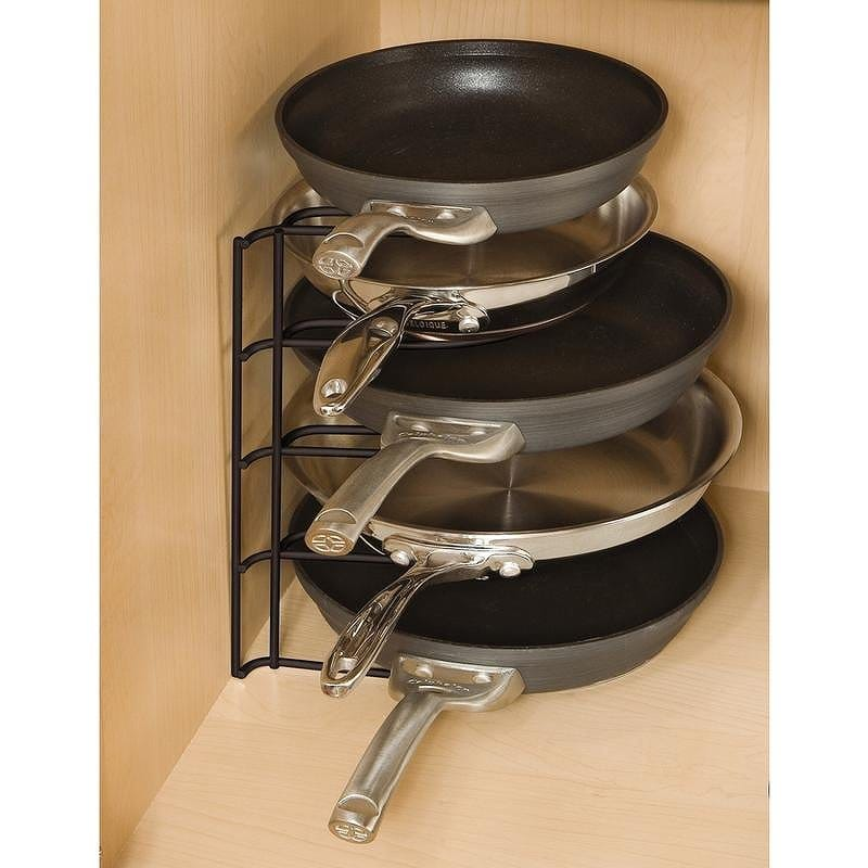 Cookware Stand Pot Storage Good Frying Pan Put Rubbermaid 1H4209bla Kitchen  Pan/Lid Organizer, Black Organizers, Drawer