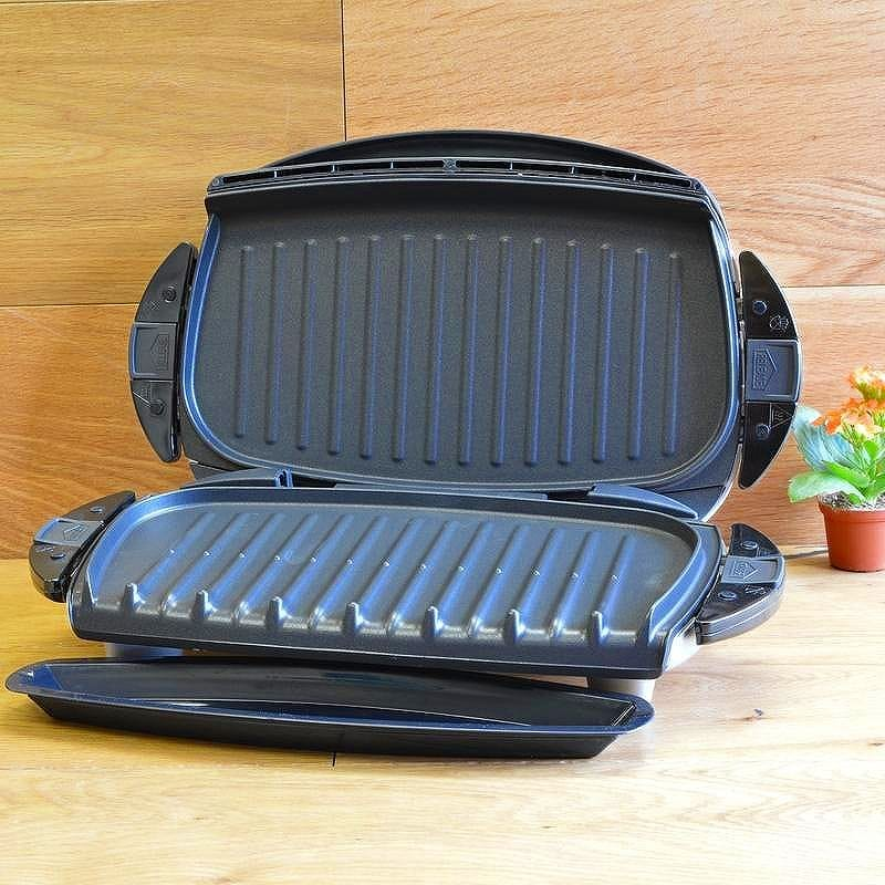 Alphaespace inc george foreman grill maker hot plate white george foreman grp4 next - Grill with removable plates ...