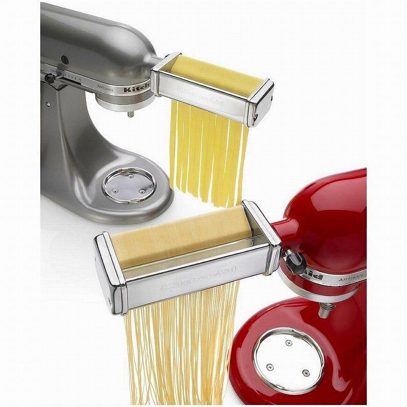 Attachment KitchenAid Stand Mixer Pasta Roller Attachment KPRA for kitchen  aid pasta roller & cutter three points セットフェットチーネリングイーネスタンドミキサー