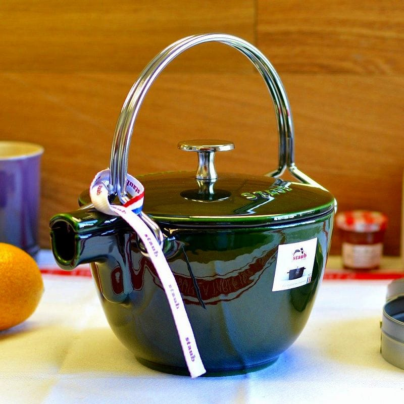 フランス ストウブ ヤカン ケトル 1.15L バジル 緑 グリーン 直径16.5cmStaub La Theiere Round Teapot Basil