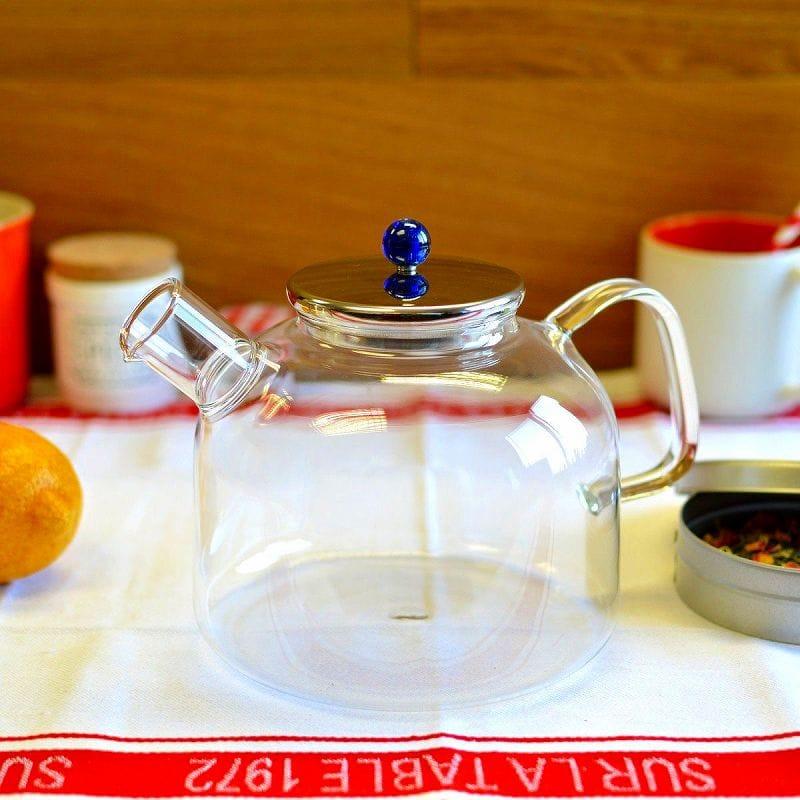 耐熱ガラス アダージオ ガラスケトル 1.75L ヤカン 直火OK! Adagio Teas Glass Water Kettle 60-ounce