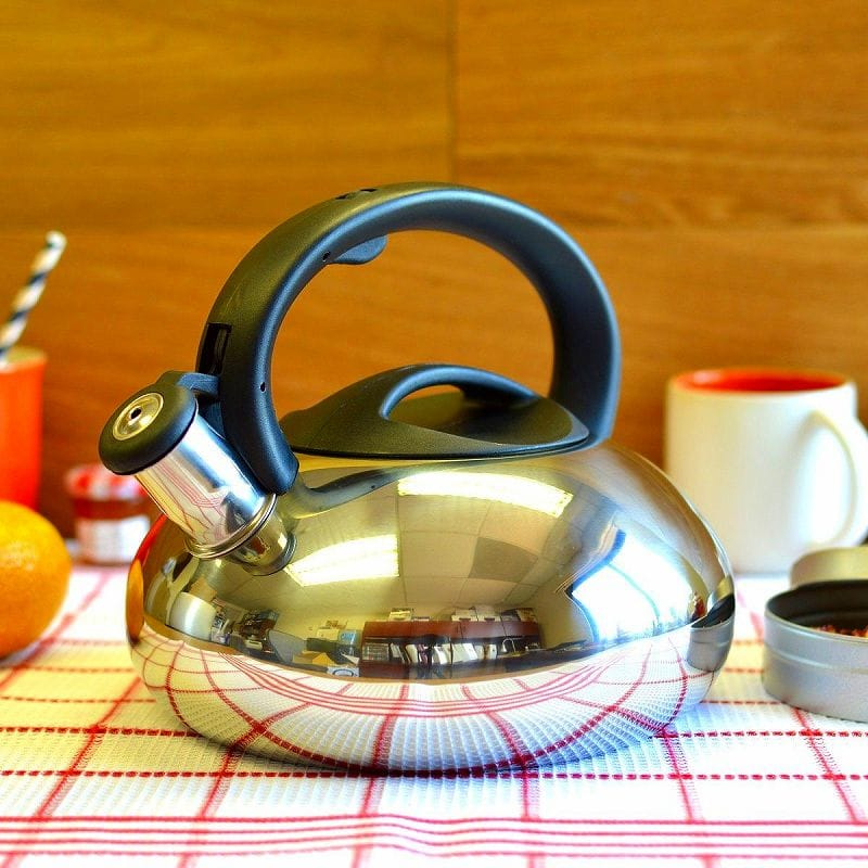 プリムラ カタリナ ステンレス笛吹ケトル 約2.8LPrimula Catalina PTK-6130 Stainless Steel Whistling Tea Kettle, 3-Quart
