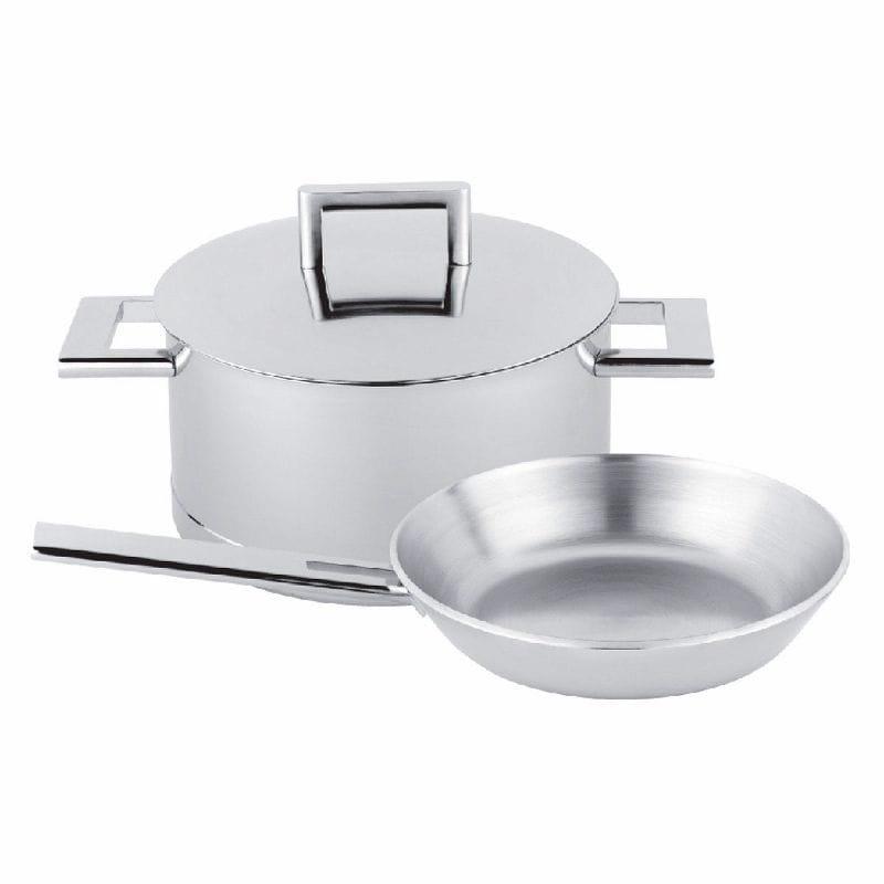 デメイエレ ジョン・ポーソン ステンレス製調理器具 鍋 ポット 3点セット demeyere John Pawson 7-Ply Stainless Steel 3-Piece Cookware Set