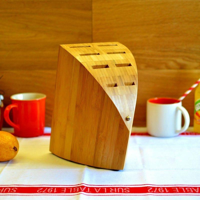 クロマ ナイフブロック ポルシェ 竹材タイプChroma Usa Type 301 Wood Block Bamboo F. A. Porsche P-13