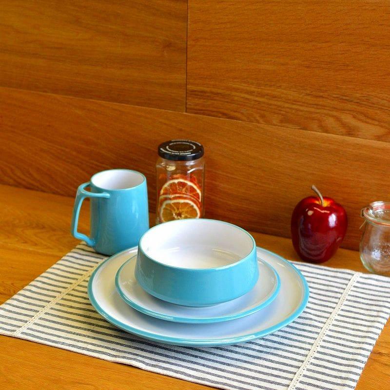 Danske コベン style dinnerware set 4 piece green DANSK Kobenstyle 4-Piece Place Setting Teal & Alphaespace Inc.. | Rakuten Global Market: Danske コベン style ...