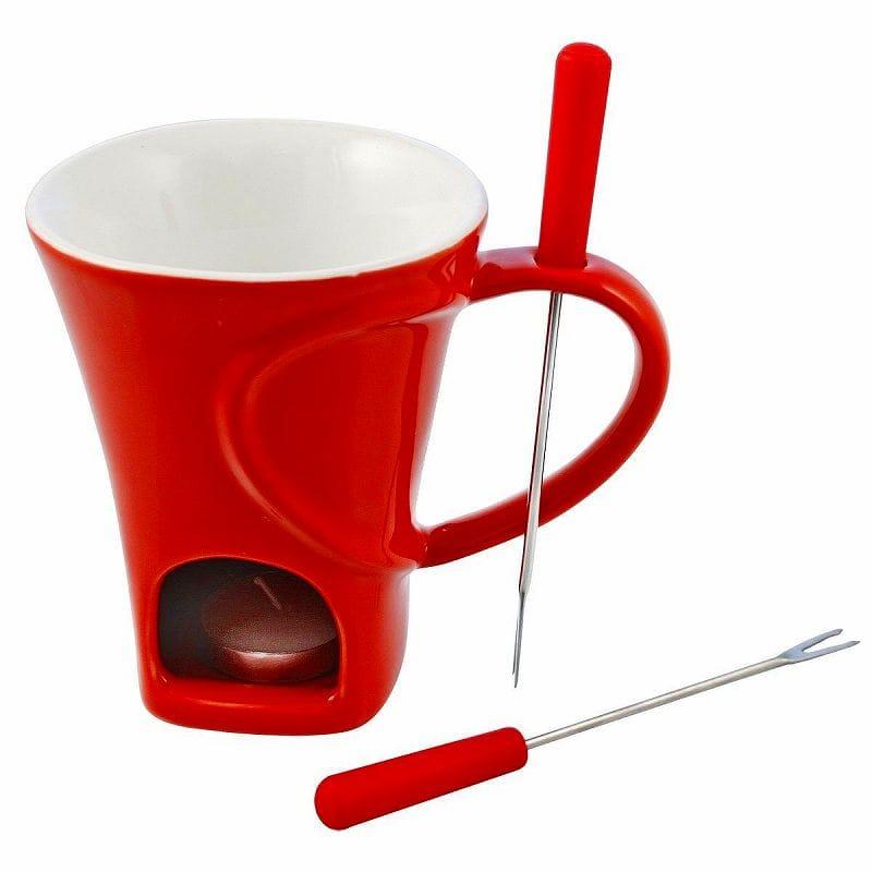 チョコレートフォンデュ マグ4点セット 赤 レッド Swissmar F12066 4-Piece Sweetheart Chocolate Fondue Mug Set