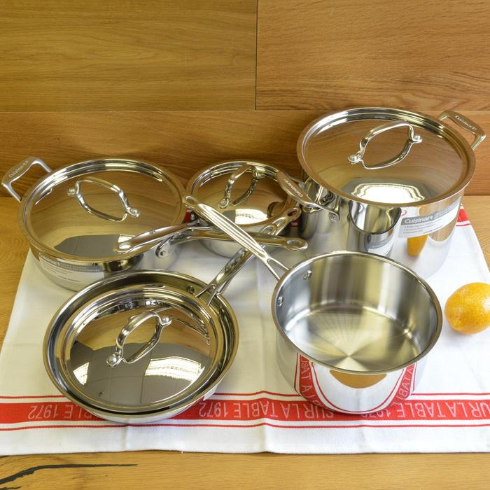 クイジナート 鍋10点セット IH不可Cuisinart Chef's Classic Stainless 10-Piece Cookware Set 77-10