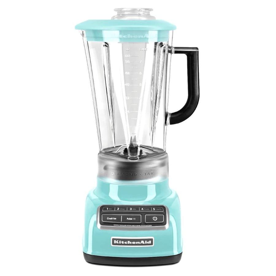Kitchen Aid Blender Mixer Aqua Sky Blue Kitchenaid Ksb1575 Diamond Vortex 5 Speed Blender Aqua Sky Blue Household Appliance