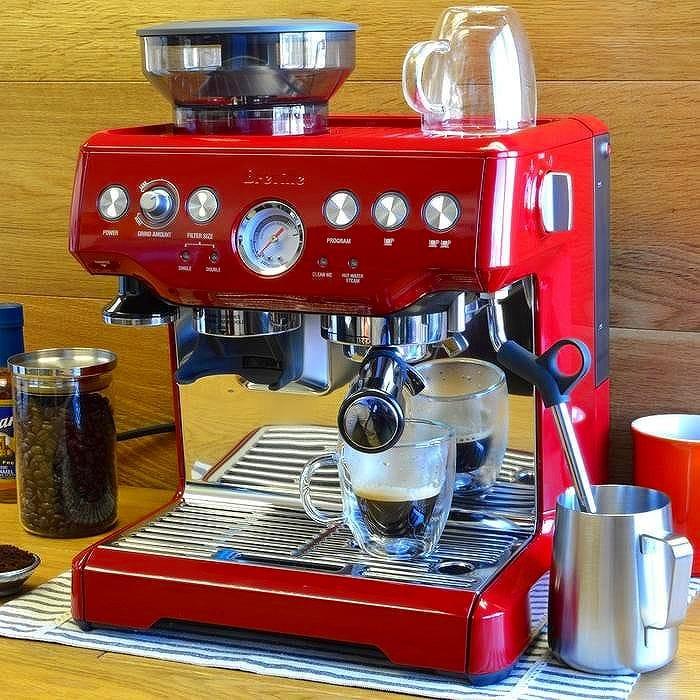 ブレビル 本格エスプレッソマシーン 豆挽き付Breville BES870XL Barista Express Espresso Machine with Grinder 家電