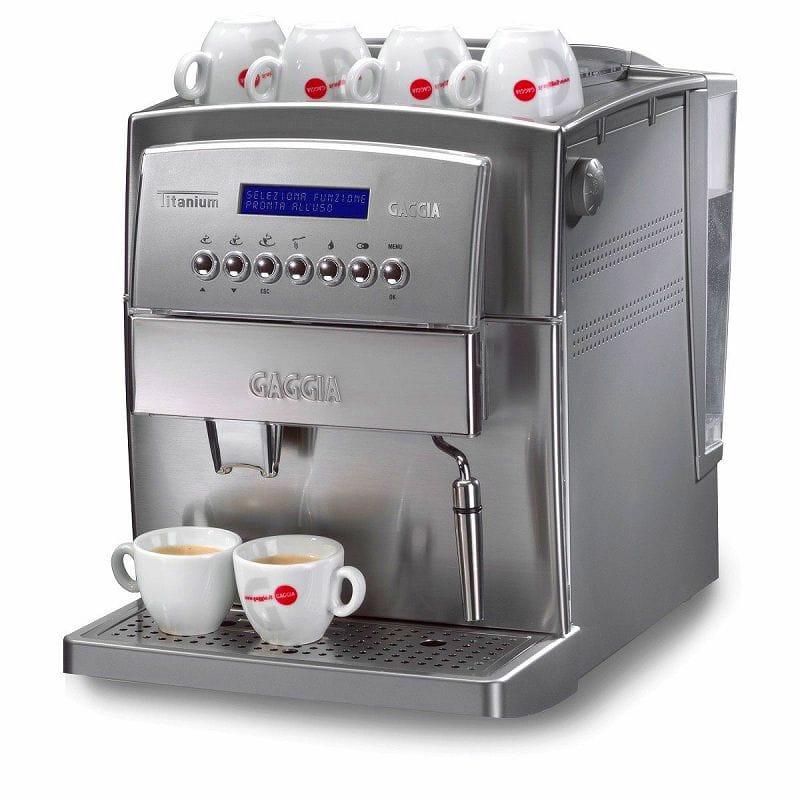 ガジア 自動 オートマチック エスプレッソメーカーGaggia 90500 Titanium Super Automatic Espresso Machine, Silver