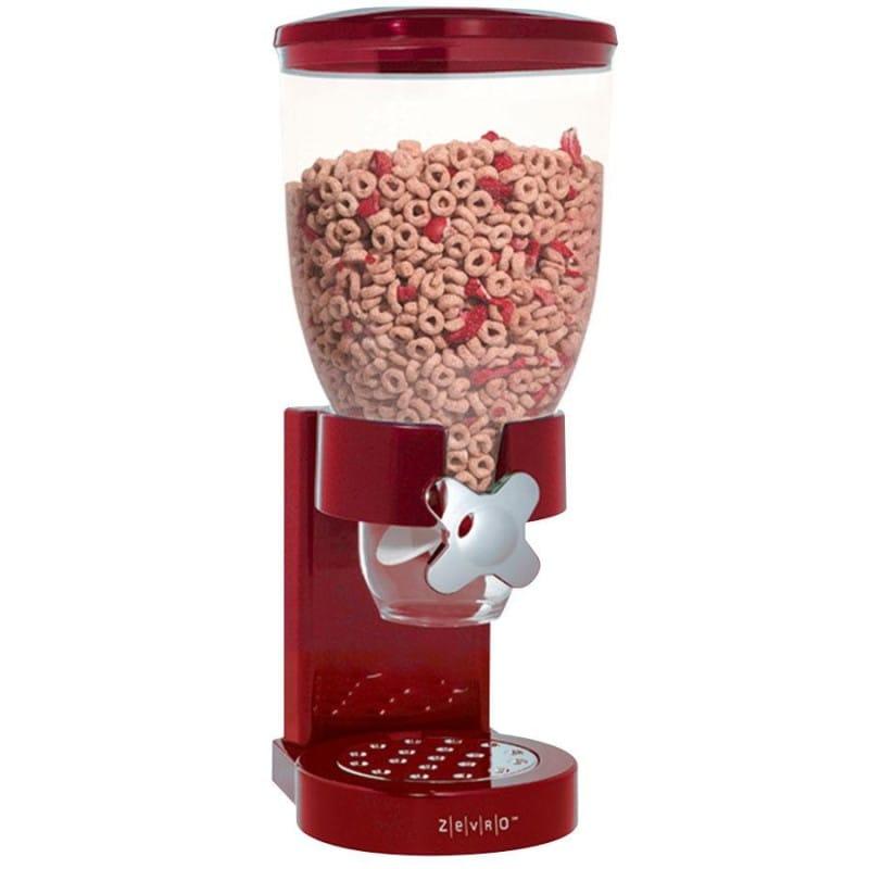 ゼブロ ドライフード シングルディスペンサー レッド Zevro Single Dry Food Dispenser, Red GAT103