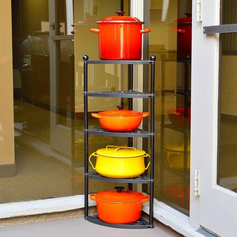 ルクルーゼ クックウェアスタンド 鍋置き棚 5段 Le Creuset 5-Tier Cast-Iron Cookware Stand