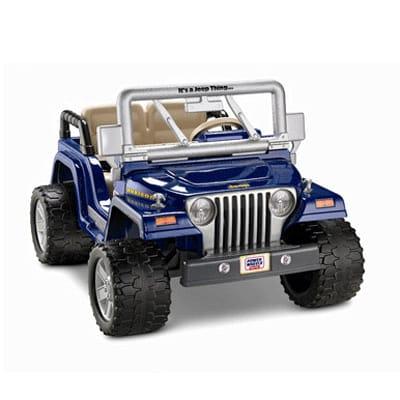 【組立要】フィッシャープライス パワーホイール ジープ 12ボルト バッテリー付電気自動車 対象年齢3才~ 電動カー Fisher-Price Power Wheels Jeep Wrangler Rubicon 12-Volt Battery-Powered Ride-On
