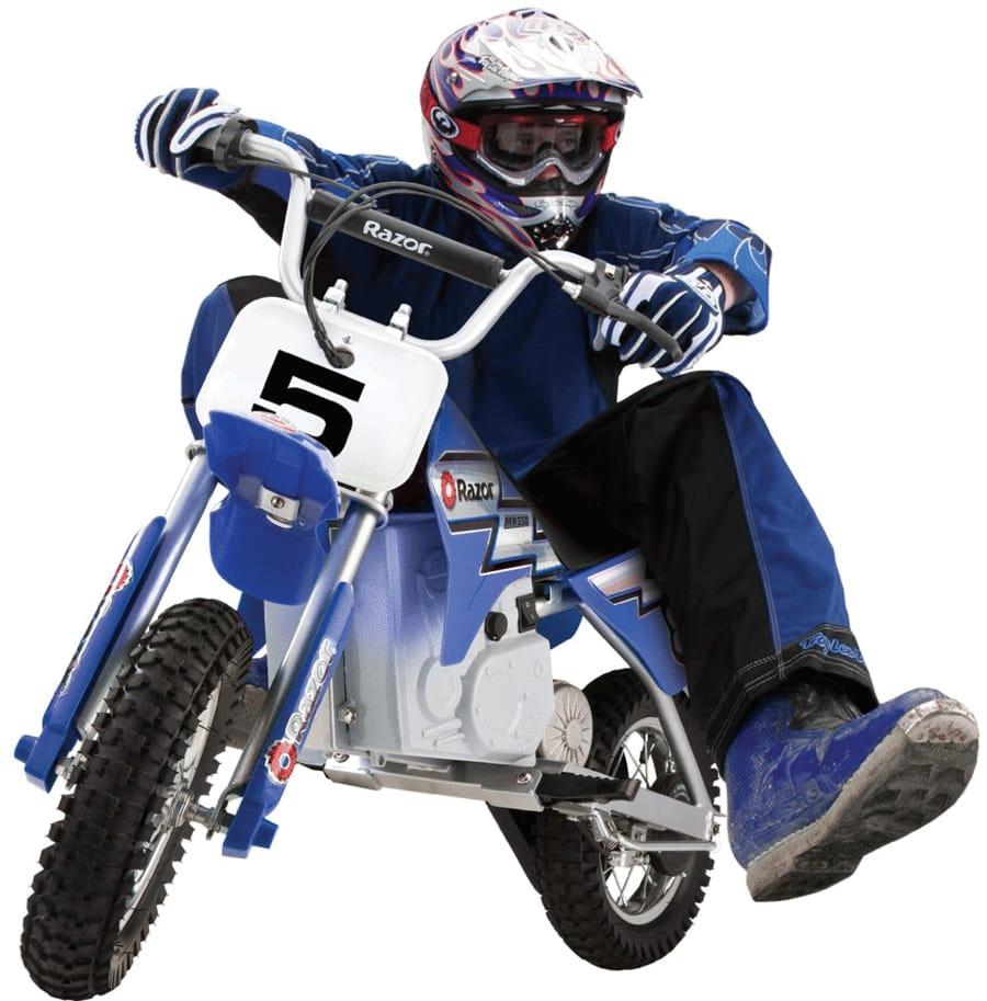【組立要】レーザー ダートロケット 12V X 2コ 電動モトクロスバイク 対象年齢12才~ 電動カー Razor MX350 Dirt Rocket Electric Motocross Bike