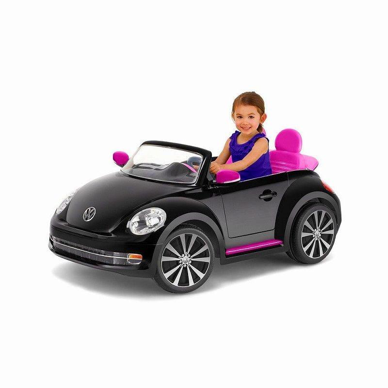 【組立要】キッドトラックス フォルクスワーゲン ビートル コンバーチブルカー 電動自動車 12Vバッテリー付 対象年齢3才~ 電気自動車 電動カー Kid Trax VW Beetle Convertible 12-Volt Battery-Powered Ride-On
