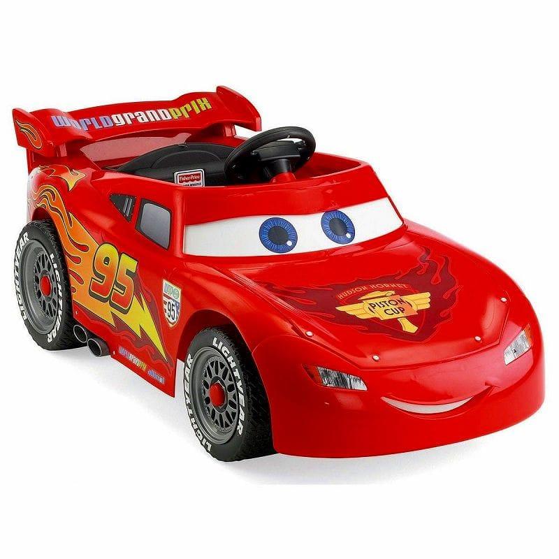 【組立要】 フィッシャープライスパワーホイール ライトニングマックィーン 子供用電動自動車 6Vバッテリー付 電気自動車 Fisher-Price Power Wheels Lightning McQueen 6-Volt Battery-Powered Ride-On