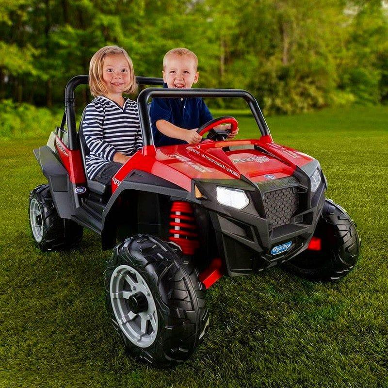 【組立要】ペグペレーゴ ポラリスレンジャー 子供用電動自動車 赤 レッド 12ボルト バッテリー付 電気自動車 電動カー Peg Perego Polaris Ranger RZR 900 12-Volt Battery-Powered Ride-On, Red