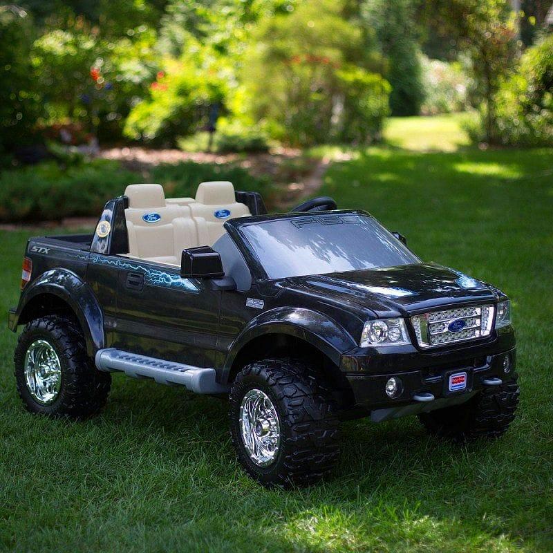 【組立要】フィッシャープライス パワーホイールブラックフォード 電動自動車 12Vバッテリー付 電気自動車Fisher-Price Power Wheels Black Ford F150 12-Volt Battery-Powered Ride-On