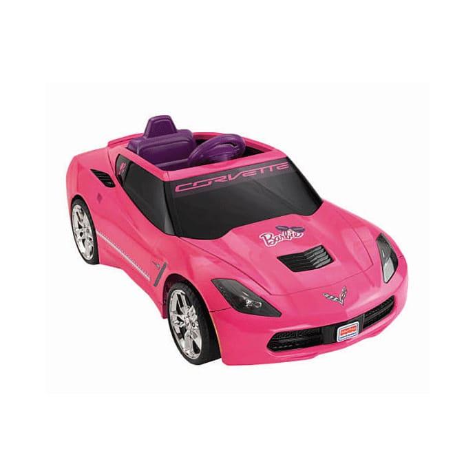 【組立要】フィッシャープライス ガールズバービーコルベット 電動自動車 12Vバッテリー付 対象年齢3才~ 電気自動車 電動カー Fisher-Price Power Wheels Girls' Barbie Corvette 12-Volt Battery-Powered Ride-On
