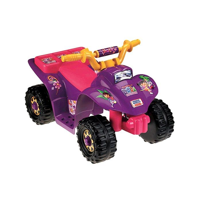 Anniversary Quad Ride-On Lil' 電気自動車 フィッシャープライス Wheels 対象年齢1~3才 6-Volt Power Fisher-Price 10th ドラリル・クワッド 電動自動車 6Vバッテリー付 Battery-Powered Dora 電動カー