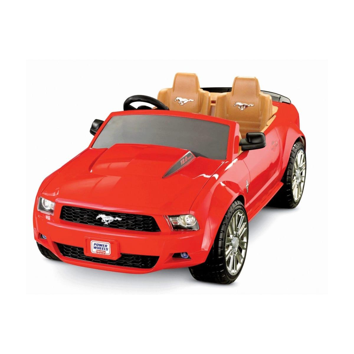 【組立要】フィッシャープライス パワーホイール レッドフォード マスタング 電動自動車 12Vバッテリー付 電気自動車Kid MoFisher-Price Power Wheels Red Ford Mustang 12-Volt Battery-Powered Ride-On