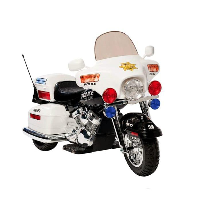 【組立要】キッドモーターズ 警察のオートバイ 12Vバッテリー付 対象年齢5~9才Kid Motorz Police Motorcycle 12-Volt Battery-Powered Ride-On