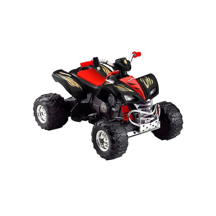 【組立要】フィッシャープライス パワーホイール カワサキKFX ブラック 電動自動車 12Vバッテリー付 電気自動車 電動カー Fisher-Price Power Wheels Kawasaki KFX 12-Volt Battery-Powered Ride-On