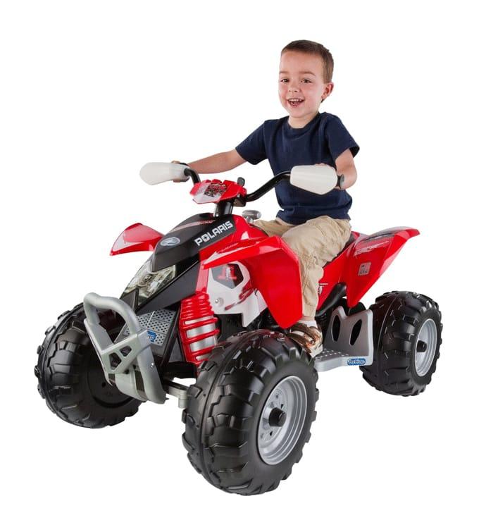 Ride-On 対象年齢2~6才 Polaris 12-Volt 電動カー Peg ポラリスアウトロー Perego ATV ATV 電気自動車 12Vバッテリー付 【組立要】ペグペレゴ Outlaw 電動自動車