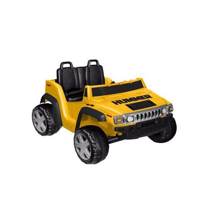 【組立要】キッドモーターズ 2人乗りハマー H2ボーイズ12V バッテリー付 電動カー Kid Motorz Two-Seater Hummer H2 Boys' 12-Volt Battery-Powered Ride-On, Yellow