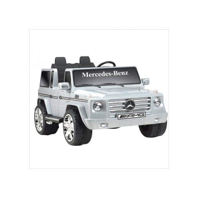 キッドモーターズ メルセデスベンツ Gクラス12Vバッテリー付 電動カー Kid Motorz Mercedes Benz G Class 12-Volt Battery-Powered Ride-On, Silver