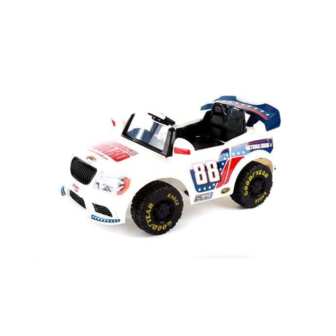 Dale 電動カー Earnhardt, ジュニアコンバーチブルカー NASCAR 子供用電動自動車 White 赤ちゃん Battery-Powered Convertible 乗用玩具 入園式 Car おもちゃ Jr. アーンハート Ride-On, デイル 12-Volt お祝い 入学式 12Vバッテリー付