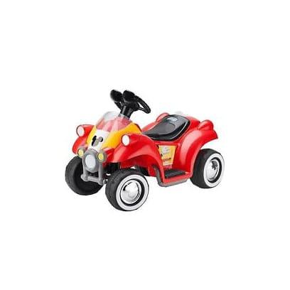 キッドトラックス ディズニーミッキーマウス 電動自動車 6Vバッテリー付 電気自動車 電動カー Kid Trax Disney Mickey Mouse Hot Rod Quad 6-Volt Battery-Powered Ride-On