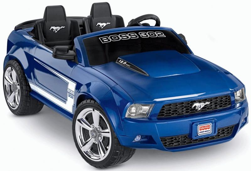 【組立要】フィッシャープライス ボーイズ ボスマスタング 電動自動車 12Vバッテリー付 電気自動車Fisher-Price Power Wheels Boys' Boss Mustang 12-Volt Battery-Powered Ride-On