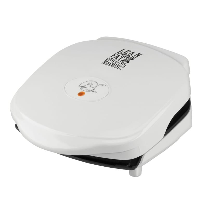 George Foreman electric Grill hot plate white white George Foreman GR10WSP1 36-inch Grill, White