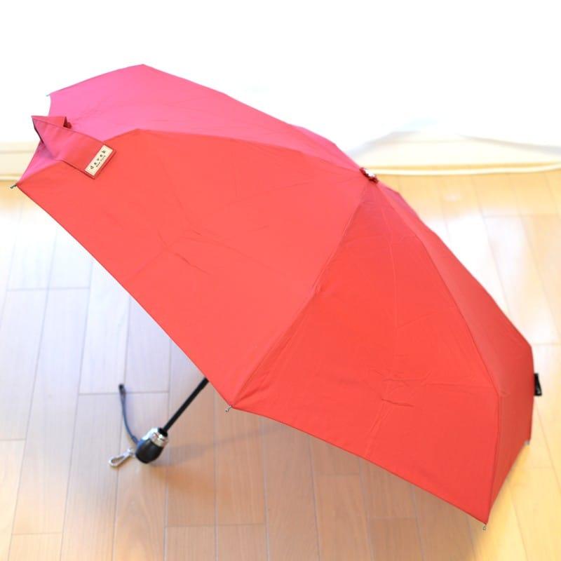 折りたたみ傘 ダべック トラベラー 自動開閉式 雨傘 高級 レッド 赤 THE DAVEK TRAVELER CLASSIC RED Umbrella