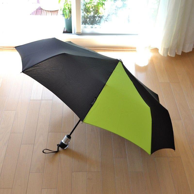 折りたたみ傘 ダべック ソロ 自動開閉式 雨傘 高級 グリーン 緑 ワサビ THE DAVEK SOLO BLACK/WASABI GREEN Umbrella