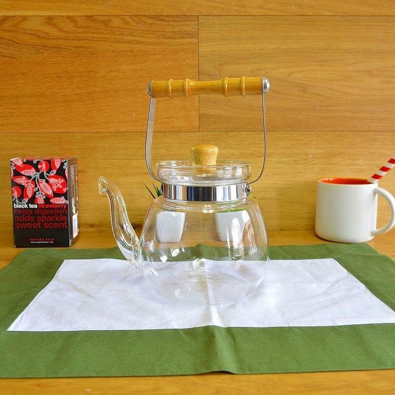 耐熱ガラス 直火 ヤマガラス チャイニーズウォーターケトル やかん 1.2L Yama Glass Chinese Water Kettle T17 (40 oz)