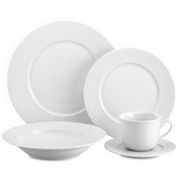 5ピース食器セット テーブルセッティング バスケットウエーブPillivuyt Basketweave Dinnerware Place Settings