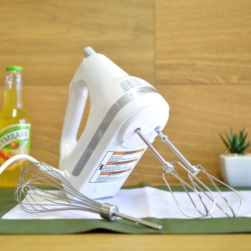 キッチンエイド ハンドミキサー 9デジタルスピード KitchenAid KHM9PWH 9-Speed Professional Hand Mixer, White 家電