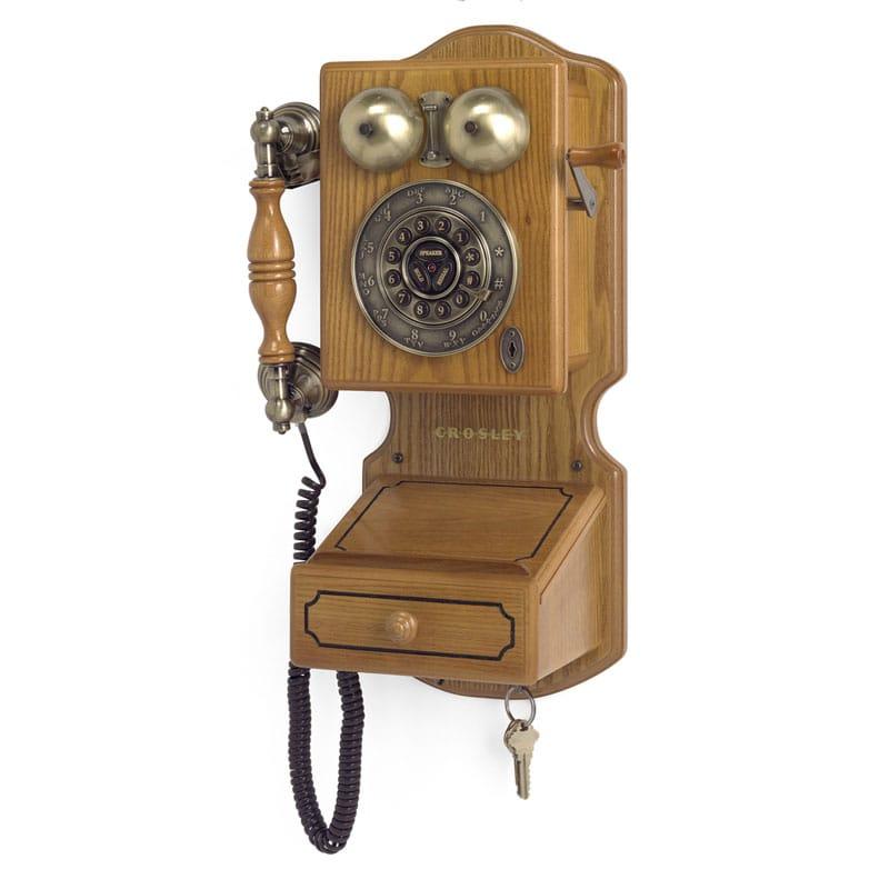 アメリカ クロスリー カントリーキッチン クラシック壁掛け電話 プッシュボタン式Crosley CR92 Country Kitchen Wall Phone II