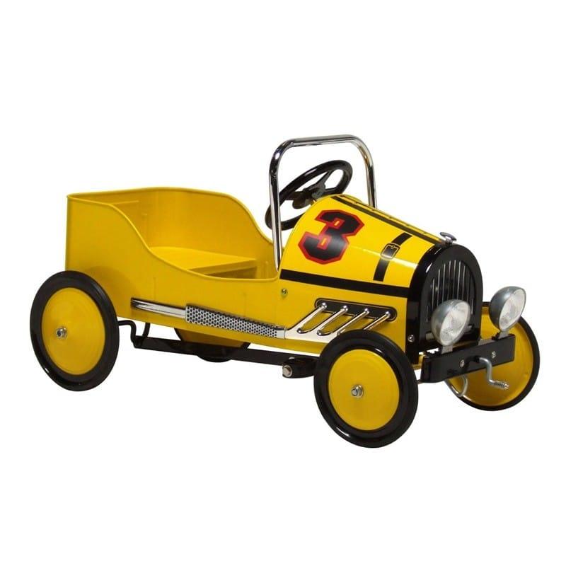 【組立要】 モルガン・サイクルレトロスタイルレーサーペダルカー・イエロー Morgan Cycle Retro Style Racer Pedal Car・Yellow
