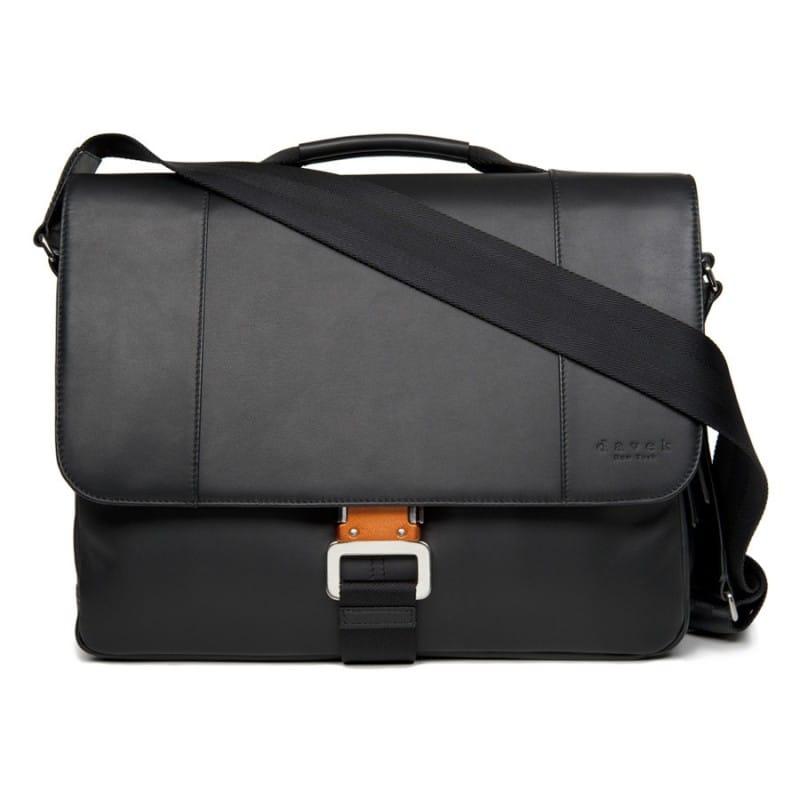 ダベック メッセンジャーバッグ ブラック 革製 Davek Leather Messenger bag Blackレザーバッグ メンズバッグ ビジネスバッグ 高級バッグ PCノート収納可 鞄