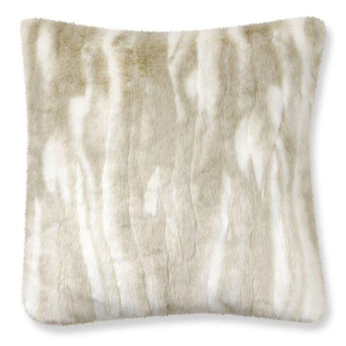 ウィリアムズソノマ フェイクファー枕カバー クッションカバー アーティックフォックス Williams-Sonoma Faux Fur Pillow Cover, Arctic Fox