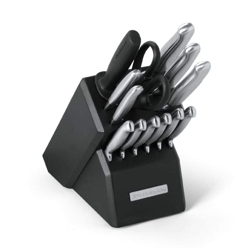 Kitchenaid Stainless Steel Knives 14 Piece Set With A Block Knife